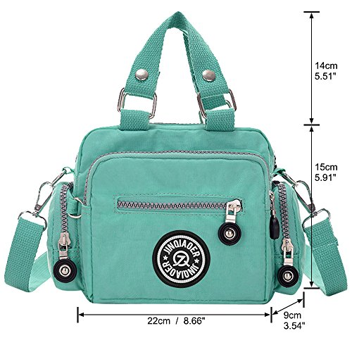 Bag Handbag Ladies Tote Shoulder red Messenger Pocket Bagpurplish green Zipper Women Small Wiwsi Multi qfYxnaa