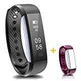 Fitness Tracker, IP67 Waterproof Smart Fitness Band Activity Health Tracker with Slim Touch Screen for Step Distance Calories track, Sleep monitor, pedometer,Bluetooth 4.0 for Android and iOS