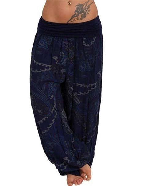 Pantalones Harem De Verano De Talle Alto Talla Grande Pantalones De Yoga Pantalones Bombachos
