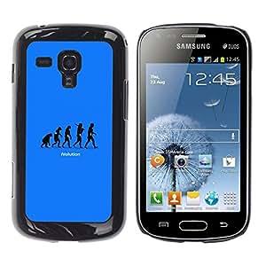 YiPhone /// Prima de resorte delgada de la cubierta del caso de Shell Armor - Cool Funny Ivolution Evolution Technology - Samsung Galaxy S Duos S7562