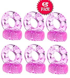 PockeToy (US SELLER) 3KI 6 Packs Waterproof Vibrating CoCk-Ring