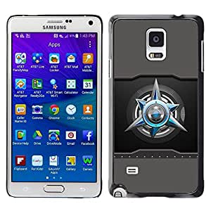 LECELL -- Funda protectora / Cubierta / Piel For Samsung Galaxy Note 4 SM-N910F SM-N910K SM-N910C SM-N910W8 SM-N910U SM-N910 -- Abstract --