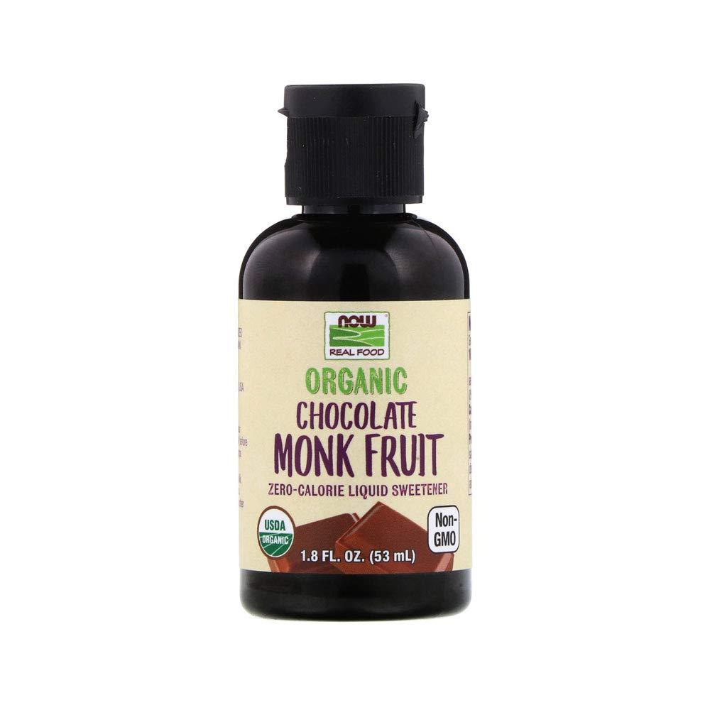 NOW Foods, Organic Liquid Monk Fruit, Chocolate, 1.8-Ounce