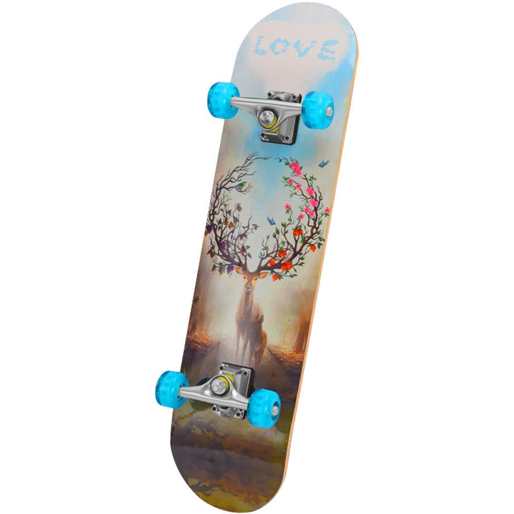 激安大特価! スケートボードファッション明るい落書きフラッシュプーリーメイプルエメリー四輪プロスクーター31インチ B07H95WM72 B B B B07H95WM72 B, Designers&Laboshop:7d6527a7 --- a0267596.xsph.ru