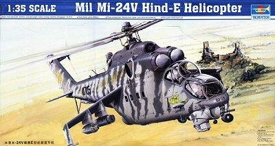Trumpeter 1/35 Scale Mill Mi24V Hind E Helicopter - Mi 24 Hind Helicopter