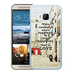 Happiness Is Love (2) Durable High Quality HTC ONE M9 Phone Case