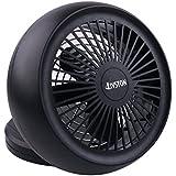 Portable Fan, Battery Operated USB Table Fan 6 Inch Black Mini Desk Turbo Fan Personal Fan by LIVSTON