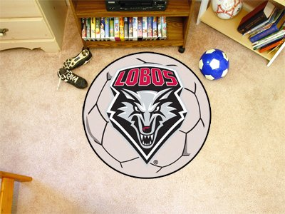 New Mexico Basketball Rug (University of New Mexico Soccer Ball Rug)