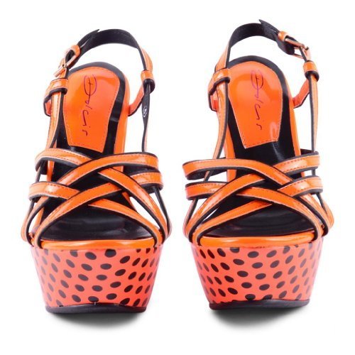 Dolcis - Sandalias de vestir de sintético para mujer Naranja - naranja