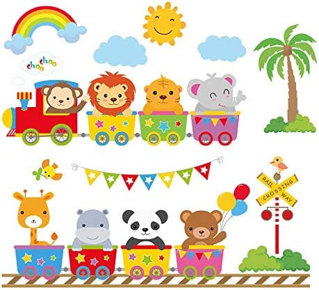 decalmile Elephant Stickers Nursery Bedroom product image