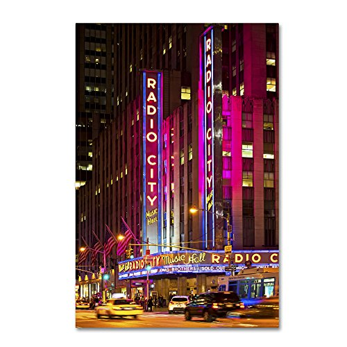 Night Walk in Manhattan by Philippe Hugonnard, 16x24-Inch Canvas Wall Art (Best Walks In Manhattan)
