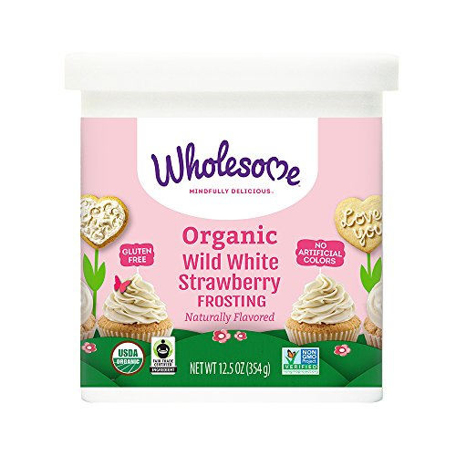 Organic Icing - Wholesome Sweeteners Organic Wild White Strawberry Frosting, 12.5 oz (Pack of 6)