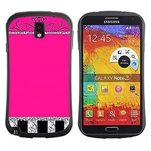 Suave TPU GEL Carcasa Funda Silicona Blando Estuche Caso de protección (para) Samsung Note 3 / CECELL Phone case / / Glitter Crown Pink Silver Sparkling /