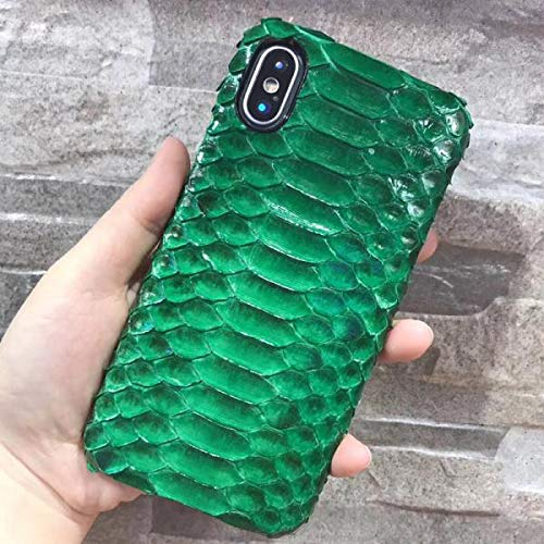 (Luxury Genuine Python Skin Leather Case for iPhone X)