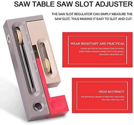 Soft Saw Table Saw Slot Adjuster Mortise and Tenon Tool Movable Measuring Block Length Compensation Woodworking Tools Professional Heavy Duty Plier Set Household