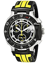 "Tissot Men's TIST0484172705713 ""T-Race"" Stainless Steel Watch with Black Rubber Strap"