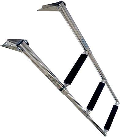HaoYueDa Portátil de 3 Pasos de Acero Inoxidable Escalera de baño telescópica Paso de Yate Marino/Piscina: Amazon.es: Hogar