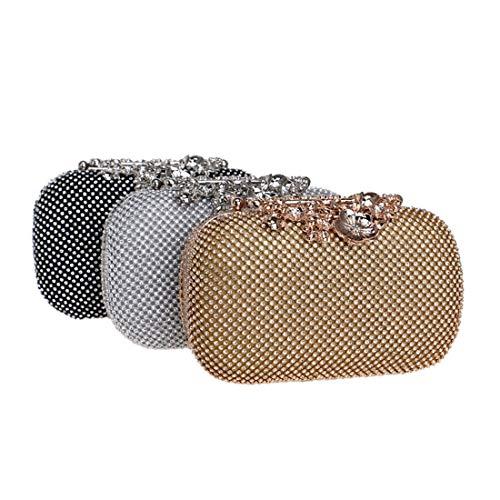 frizione di lusso europea di da delle sera borsa della Vola borsa borsa da e signore borsa di sera sera della colore Nero argento americana borsa del diamante raccoglitore XxqYwX1f