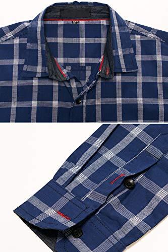 Basic Casual In M Da Rosso Maniche Camicia Quadri Pinkpum 3xl Cotone 2 Lunghe A Camicie Uomo P5qx7Bz