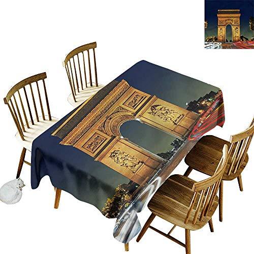 - Tim1Beve Washable Tablecloth Paris Touristic Entrance Roundabout High-end Durable Creative Home 54