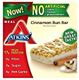 #3: Atkins Meal Bar, Cinnamon Bun, 5 Bars (Pack of 6)