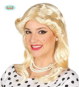 Guirca Blonde 70er Jahre Locken Perücke Für Damen Karneval