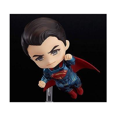 Drg0n Batman vs.Superman Q Edition Clay Man Justice Dawn Superman Cambiar Cara Muñeca Mano: Juguetes y juegos