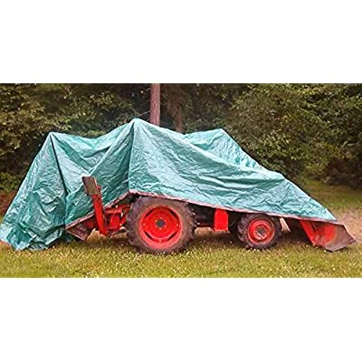 Foremost Dry Top 10057 5 ft x 7 ft Brown/Green Reversible Full Size 7-mil Poly Tarp - Pack of 2