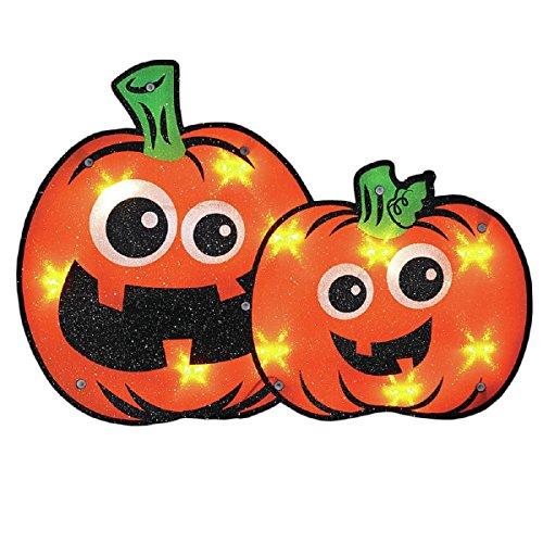 Halloween Lighted Pumpkin Window -