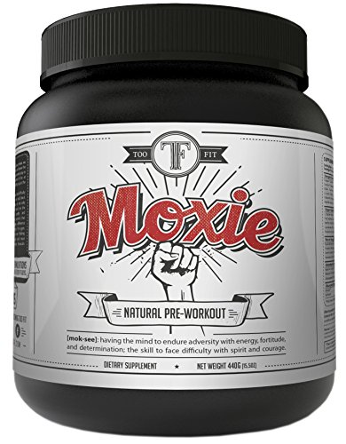 Too Fit Moxie Natural Preworkout Supplements with Creatine, Beta Alanine, BCAA's. Pre Workout Powder for Men and Women Best for Building Muscle, Inscreased Strength, Energy. Stimulant Free Paleo Vegan