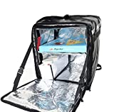 PK-76Fbl: Insulated Pizza/Food Delivery Backpack Bag, 16''x 15''x 18'', with a Cup Holder. A Waterproof, Collapsible Food Take-Out Box for Catering, Restaurant, Delivery Drivers, 76Liters(Black)