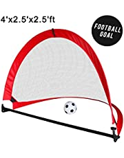 Football Goal Posts for Kids Indoor Outdoor Football Set with Foldable Carry Bag, Garden Goal Target Net Toys Gifts for Boys Girls 3 4 5 Years Old (Training) (Football)