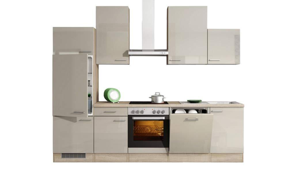 Smart Möbel - Bloque de Cocina (280 cm, Madera de Roble Sonoma, con fogón, Nevera, lavaplatos): Amazon.es: Juguetes y juegos
