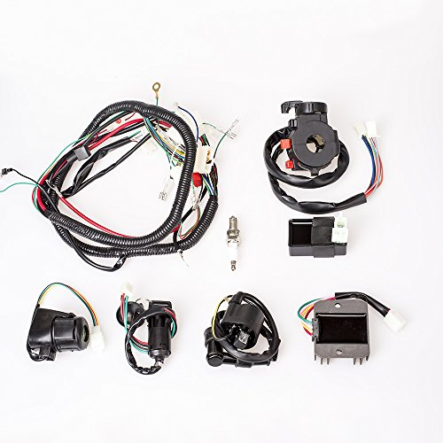 aokur Wiring Harness Loom Ignition Coil CDI Solenoid Relay Rectifier For 200/ 250CC ATV Quad Buggy Scooter Electric Start Engine