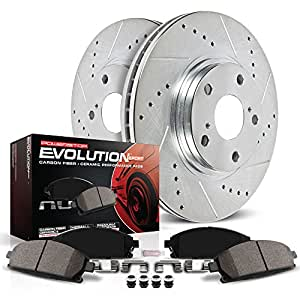 Power Stop K1860 Front Z23 Evolution Brake Kit with Drilled/Slotted Rotors and Ceramic Brake Pads