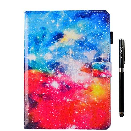 inShang iPad iPad air / iPad 5 Fundas soporte y carcasa para iPad iPad air ((2013 Release) , smart cover PU Funda + clase alta 2 in 1 inShang marca negocio Stylus pluma Beautiful Starry Sky