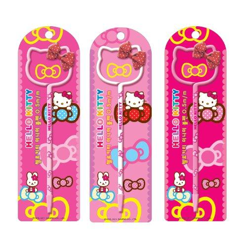 Hello Kitty Silhouette (Hello Kitty Sanrio Pen Thin Style w/ Hello Kitty Silhouette & Bow - Pink, Light Pink, & White - 3PK)