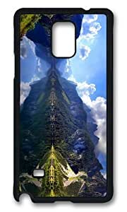 MOKSHOP Adorable austrian mountain lake scenery Hard Case Protective Shell Cell Phone Cover For Samsung Galaxy Note 4 - PCB