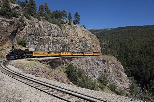 - Las Animas County, CO - Photo - A Durango & Silverton Narrow-Guage Scenic Railroad train, rounds a high San Juan Mountains precipe in Las Animas County, Colorado. - Highsmith