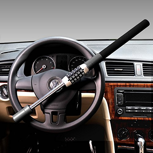 Reinforced Rod Car Steering Wheel Lock Steering Wheel Locking Device Heavy...
