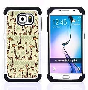 For Samsung Galaxy S6 G9200 - beige cartoon animal drawing Dual Layer caso de Shell HUELGA Impacto pata de cabra con im??genes gr??ficas Steam - Funny Shop -