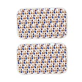 POPETPOP Dog Pee Pad Washable Fast Absorbing Reusable Training Puppy Pads 2pcs (Coffee)