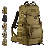 Outdoor 60L Tactical Backpack-VERTTEE Hiking Shoulder Messager Trekking Bag Military Travel Backpack