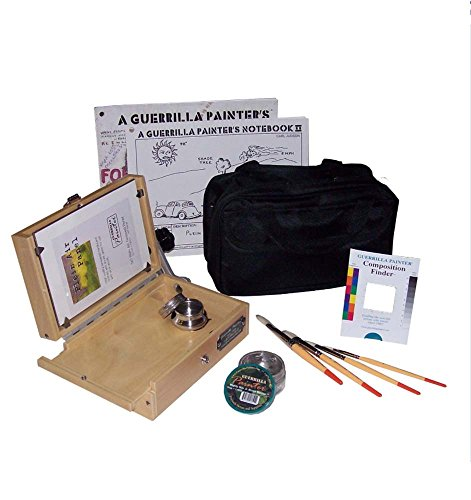 Guerrilla Painter 5 by 7-Inch Pocket Box Oil and Acrylic Plein Air Kit by Guerrilla Painter