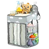 Changing Table Hanging Organizer Hanging Diaper Caddy Organizer | Diaper Stacker for Changing Table, Crib, Playard or Wall | Nursery Organization & Baby Shower Gifts for Newborn