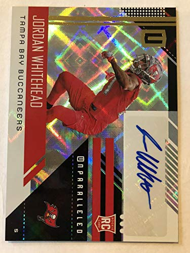 2018 Unparalleled Football Rookie Signatures #273 Jordan Whitehead Auto Tampa Bay Buccaneers Official NFL Trading Card m