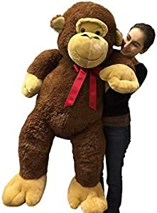 giant stuffed monkey 5 feet tall soft brown large plush animal 60 inches new toys. Black Bedroom Furniture Sets. Home Design Ideas