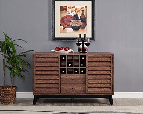 Walnut Wine Cabinet - Ameriwood Home 7904096COM Vaughn Wine Cabinet, Walnut