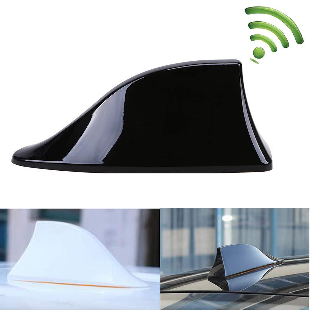 Antenne radio vierge avec antenne radio vierge FM Kelay Car Shark Signal avec vernis ABS adh/ésif Gris