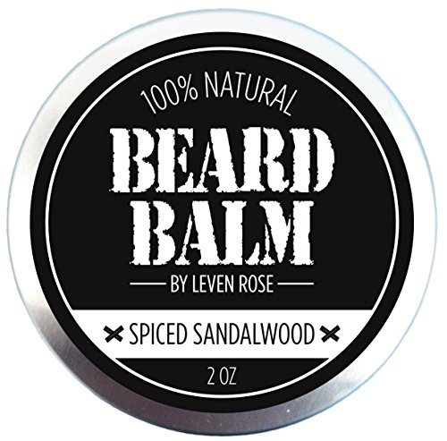 [100% NATURAL Beard Balm Spiced Sandalwood by Leven Rose Leave In Conditioner with Natural Oils for Moustache Grooming and Beard Growing for Men - Best Beard Oil Balm - 2] (Nose Putty)